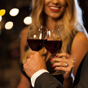 Enjoy a glass of Gervasi Vineyard wine over date night at The Bistro