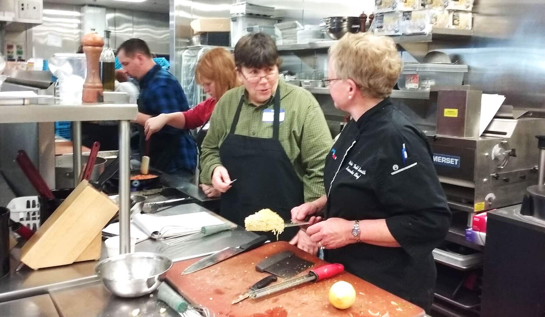 Chef Vicki Todd Smith teaches her Polenta, Pasta and Potatoes class