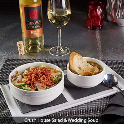 Crush House Salad and Wedding Soup