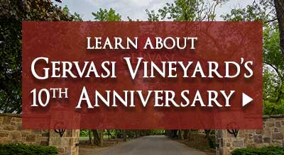 Learn About Gervasi Vineyard's 10th Anniversary