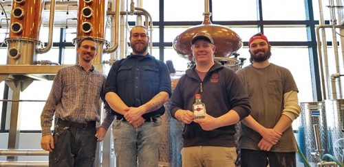 The distillery team at Gervasi Vineyard has been working hard to produce hand sanitizer, a much-needed product during the COVID-19 pandemic.