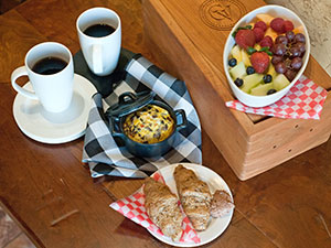 Enjoy a delicious breakfast delivered to your suite each morning of your stay.