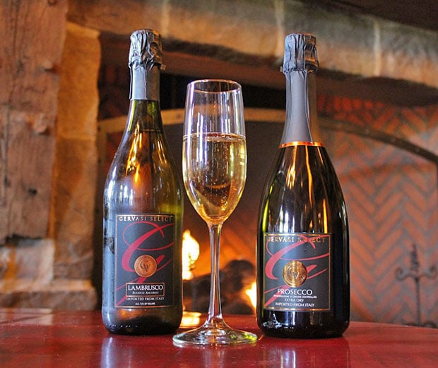 Lambrusco and Prosecco are two of Gervasi's imported Italian wines.