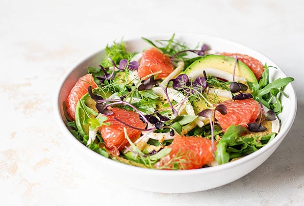 Fennel and grapefruit salad