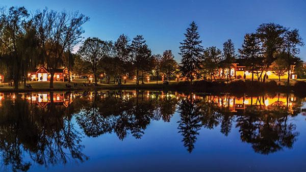 Gervasi Vineyard Lake at Night