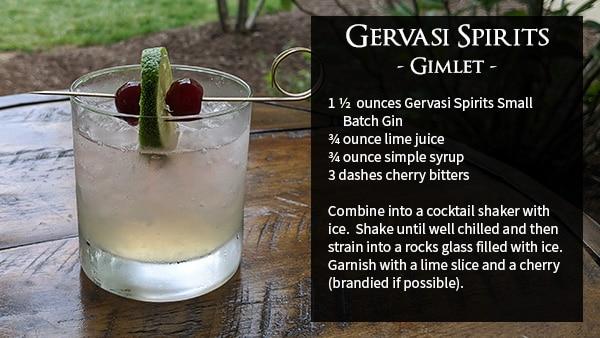 Gimlet Recipe at Gervasi Vineyard