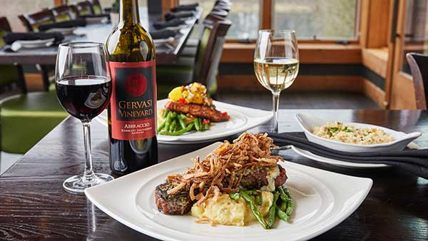 Gervasi Abbraccio Red Wine with Twisted Olive Steakhouse menu